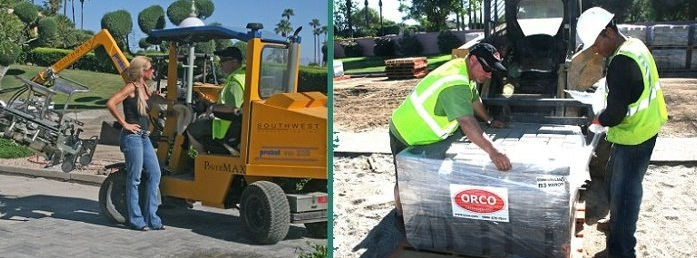 Farley Interlocking Pavingstones Is The First Local Company To Machine-Install Sustainable Concrete Pavers At  Marrakesh County Club