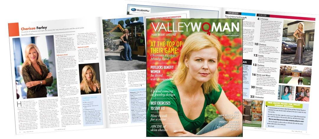Charissa Farley Featured In Valley Woman Magazine